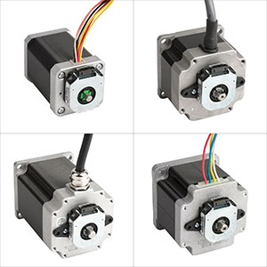 Step motors with CAA encoders