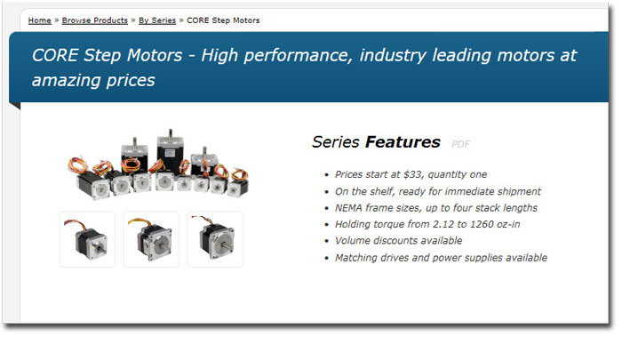 CORE step motors