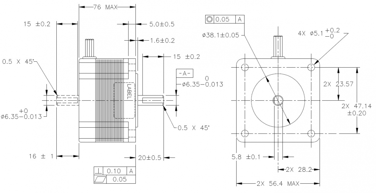 What do nema sizes mean applied motion for Nema stepper motor sizes
