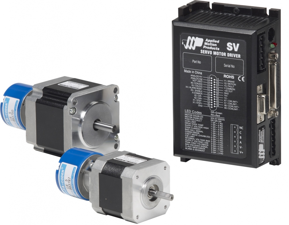 Sv7 servo drives applied motion for Servo motors and drives